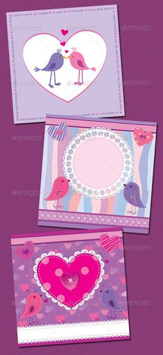 Valentine's Day Cards  #GraphicRiver         Three cute cards for Valentine's Day. One can also be used as a photo frame or as a wedding invitation, etc.     Created: 30December11 GraphicsFilesIncluded: JPGImage #VectorEPS Layered: Yes MinimumAdobeCSVersion: CS Tags: album #background #bird #card #couple #cute #date #dating #fabric #greetings #heart #illustration #invitation #lace #love #marriage #photoframe #relationship #romance #romantic #scrapbook #shape #stitched #textile #valentine…