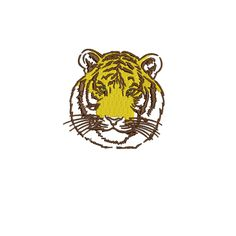 Tiger simple embroidery design by FRenee2 on Etsy