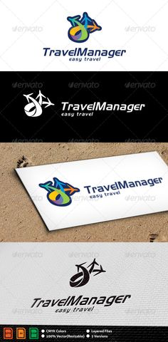 Travel Manager Logo Template  #GraphicRiver        Travel Logo Template   Layered files, 100% vector, CMYK colors, highly customizable.  Download pack contains .cdr, .ai, .eps and eps10 files.  Files are Adobe CS, Corel 11 and eps_v10 compatible..  Colors and text can be easily edited.  Free font used: Newton. You can find it here:  .fontspace /roger-white/newtown  	 Check out my work on my portfolio page. If you like it, please rate it after purchasing.  	 Thank you!     Created…