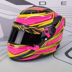 """Mi piace"": 20, commenti: 1 - rStar Design (@rstardesign) su Instagram: ""It will be hard to miss James Abela's new Arai GP6 even when it's inside his Porsche GT3, that neon…"""