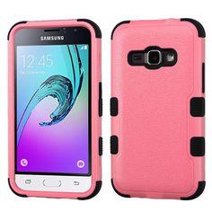 MYBAT TUFF Samsung Galaxy J1 / Amp 2 Case - Pink/Black
