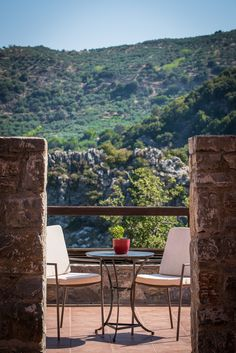 Balcony of room - Enagron Ecotourism Village, Axos, Rethymno, Crete Countryside Village, Places To See, Rethymno Crete, Greece, Beautiful Places, Around The Worlds, Patio, Traditional, Landscape