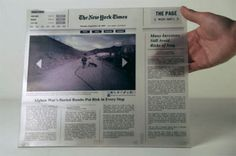 Paging the Future: Paper-Thin Next-Generation Newspaper | Gadgets, Science