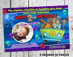 Scooby doo party invitation by evacorina37 on Etsy