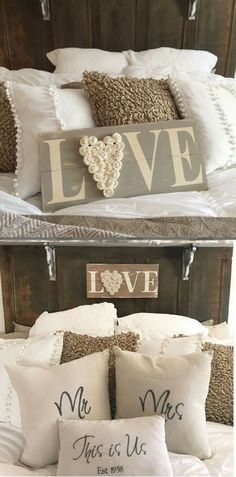 I like this for above the bed | farmhouse wood sign | master bedroom | rustic decor | farmhouse decor | afflink
