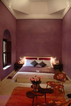Love this colour!  Riad El Fenn :: Large Luxury Rooms Riad Marrakech