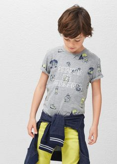 Katoenen t-shirt met print -  Kinderen | MANGO Kids België