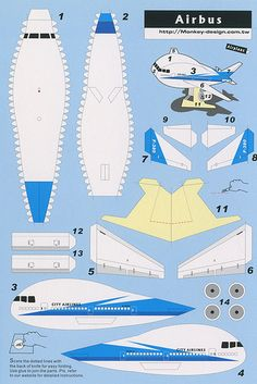 Airbus - Cut Out Postcard by Shook Photos, via Flickr