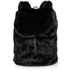 Fenty Puma x Rihanna Limited Edition Faux Fur Backpack - 100%... (€160) ❤ liked on Polyvore featuring bags, backpacks, backpack, accessories, black, fur, rucksack bags, puma rucksack, puma backpack and backpack bags