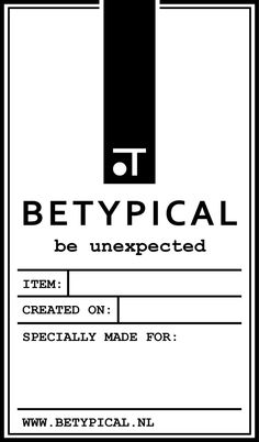 #BETYPICAL #LABEL