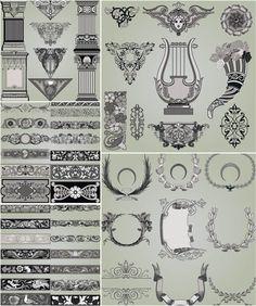 Decorative ornamental elements vector