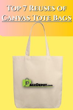 Canvas tote bags are not only environmentally-friendly, they're economically awesome. Here are seven ways you can do more than shop with a tote bag. Plastic Bags, Shopping Bags, Reusable Bags, Gift Bags, Canvas Tote Bags, Reuse, Canvas Fabric, Totes, Eco Friendly