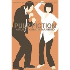 Pulp Fiction 12x18 inches movie poster by ClaudiaVarosio on Etsy, £12.00 #pulpfiction #poster