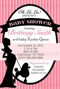 Paris Themed Chic Baby Shower Invitation  by Ritte