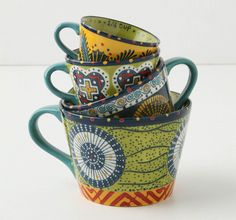Tea cup measuring cups from Anthropologie. These are great.