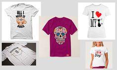 Camisetas impresas.