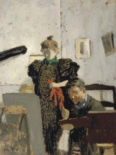 Edouard Vuillard (1868-1940)    (Artist Vallotton chez les Natanson 1897