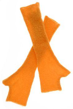 Everest Orange Fingerless Gloves by Inverni