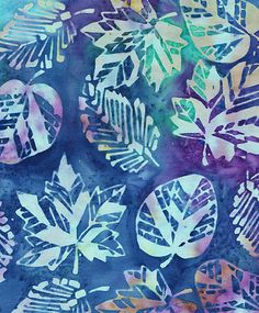Batik Fabric Leaf Fantasy from Bali | 100% cotton Bali Batik… | Flickr