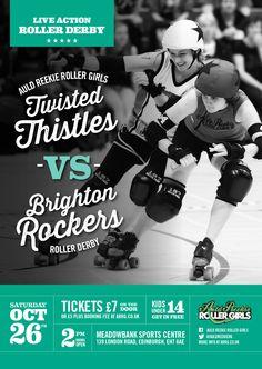 Bout poster for Edinburgh's excellent Roller Derby League - Auld Reekie Roller Girls