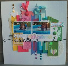 Smile - You are my sunshine *POP Off the Page* - Two Peas in a Bucket. Use scraps to make a rainbow behind pics.