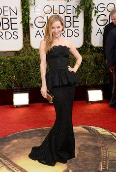 Leslie Mann at the Golden Globes 2014