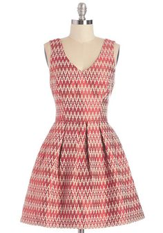 Brighten Up the Room Dress. Your personality adds panache to any gathering, especially when you arrive in this crimson and cream-hued party dress! #red #modcloth