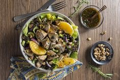 Wild Rice & Turkey Bowl with Cranberries and Oranges