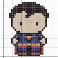superman chibi - Stitch Fiddle