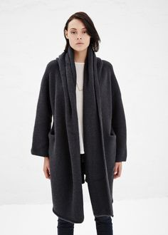 Lauren Manoogian Capote Coat (Soft Black)