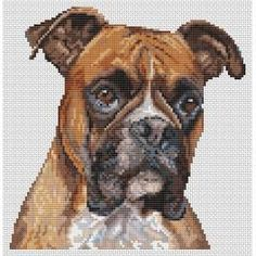 """Boxer dog ... the site this is from is """"temporarily down."""" I pinned this hoping it'll come back up. I really love this.!!!"""