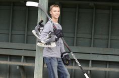 senior picture ideas for hockey/baseball