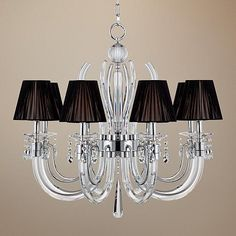 "Derry Street Crystal Arms 32"" Wide Large Chandelier"