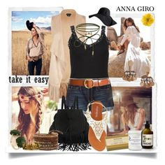 """""""Boho Girl"""" by annagiro ❤ liked on Polyvore featuring City Chic, Hollister Co., Humble Chic, Olivia Miller, Accessorize, Frame, Gucci, Les Néréides, Seletti and Herbivore"""