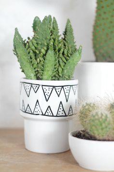 Flower pot Herb Pot Modern Ceramic Garden Ceramics by MIUUSDESIGN