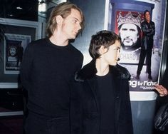 """foreverwinolh: """" Dave Pirner and Winona Ryder """" Winona Ryder Dating, Pete Yorn, Johnny And Winona, He Broke My Heart, Kid Dates, Hanson Brothers, Soul Asylum, Winona Forever, Just Good Friends"""