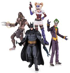 Batman Arkham Asylum Action Figure 4-Pack 17 cm