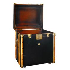 Stateroom End Trunk Table in Black