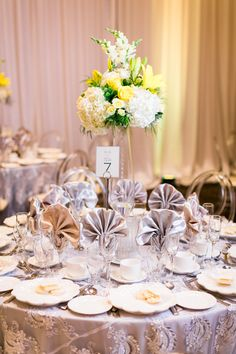 Gray Weddings, Table Decorations, Yellow, Grey, Home Decor, Grey Weddings, Ash, Homemade Home Decor, Gray