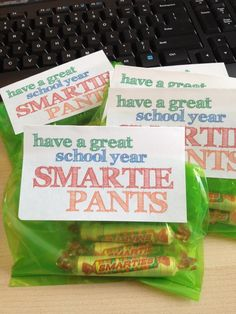 I love this adorable & simple back to school treat.