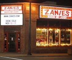 Zanies, Nashville For three decades Zanies has been providing Nashville with an alternative to the honky-tonk. Located in the trendily gritty neighborhood of 12 South, the corner building has an old-school '80s vibe and fills the nearly 300 seats for nightly acts and two-drink minimums.