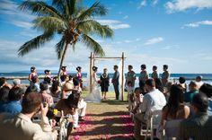 gorgeous beach front ceremony