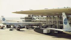 Zu Beginn der 1960er Jahre war Terminal 3 Ausgangspunkt der Transatlantikflüge mit den Boeing 707 von Pan Am.
