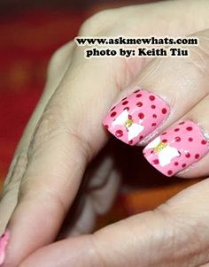 Valentine's Day nail art check out www.MyNailPolishObsession.com for more nail art ideas.