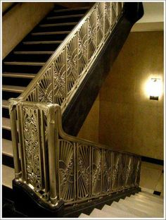 Beautiful Art Deco Staircase in The Chicago Daily News Building/Riverside Plaza