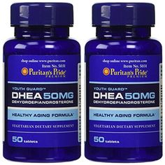 Puritan's Pride 2 Pack of DHEA 50 mg Puritan's Pride DHEA 50 mg-50 Tablets >>> Find out more at the image link.