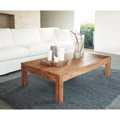 Table basse en bois de sheesham massif L 140 cm