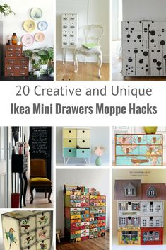 The Moppe Ikea Mini drawers come unfinished so they are ripe for hacking. Here are some of the most innovative and creative mini drawers hacks.
