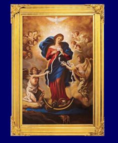 Mary Undoer of Knots ~ The knots of life weigh me down  with intertwining cares,  a confusion of threads and a tangle of mesh,  knitted by arrogance and dread.  Would that these ties which bind my will  and stifle my beating heart,  be straightened with a patient hand  and be mercifully drawn apart!