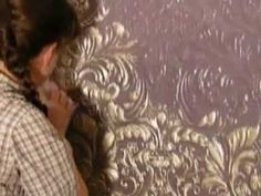 Lincrusta - How to Decorate Lincrusta - YouTube Anaglypta Wallpaper, Drawing Room, New Homes, Wall Decor, Creative Ideas, Walls, Crafts, Houses, Wallpapers